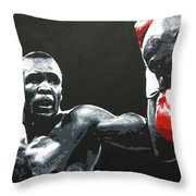 Leonard Vs. Hagler 2 Throw Pillow