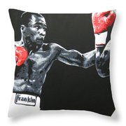 Leonard Vs Hagler Throw Pillow