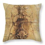 Leonardo: Anatomy, C1510 Throw Pillow