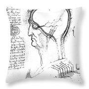 Leonardo: Brain, C1490 Throw Pillow