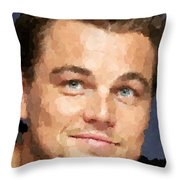 Leonardo Dicaprio Portrait Throw Pillow