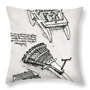 Leonardo: Gun Throw Pillow