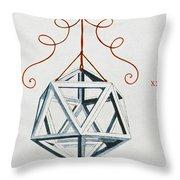Leonardo Icosahedron Throw Pillow