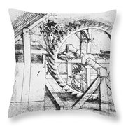 Leonardo: Invention Throw Pillow