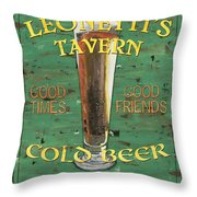 Leonetti's Tavern Throw Pillow