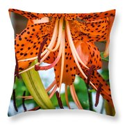 Leopard Lily 2 Throw Pillow