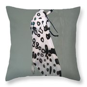 Leopard Moth Throw Pillow