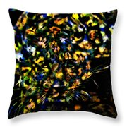 Leopard On A Ledge Throw Pillow