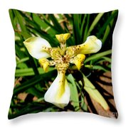 Leopard Orchid Throw Pillow