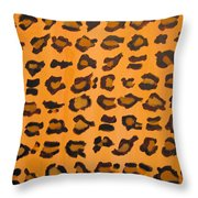 Leopard Print Hand Painted Leopard Print  Throw Pillow