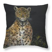 Leopard Stare Throw Pillow