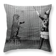 Leopard Trainer, C1906 Throw Pillow