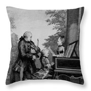 Leopold Mozart And His Two Children Throw Pillow