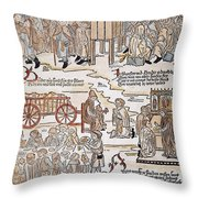 Lepers, 1493 Throw Pillow