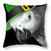 Leprechaun Parrot Throw Pillow