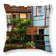 Les Bateliers In Colmar France Throw Pillow