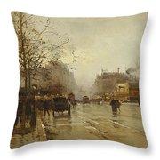 Les Boulevards Paris Throw Pillow