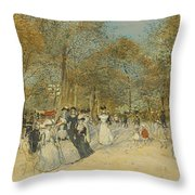 Les Champs-elysees Throw Pillow