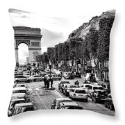 Les Champs Elysees  Throw Pillow