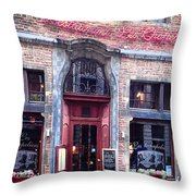 Les Chapeliers Throw Pillow