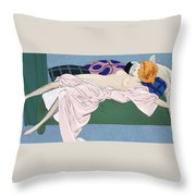 Les Cinq Sens Throw Pillow