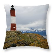 Les Eclaireurs Lighthouse Southern Patagonia Throw Pillow