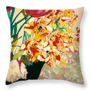 Les Fleur Throw Pillow