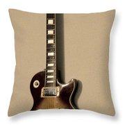 Les Paul Electric Guitar Throw Pillow