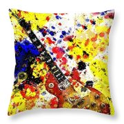 Les Paul Retro Abstract Throw Pillow