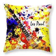 Les Paul Retro Throw Pillow