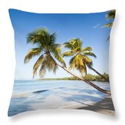 Les Salines Beach Throw Pillow