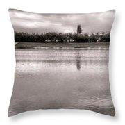 Les Templettes Et Le Bassin De La Sourderie Throw Pillow