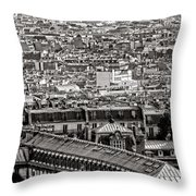 Les Toits De Paris Throw Pillow