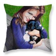Leslie And Sergeant Throw Pillow