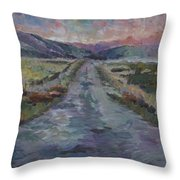 Less Travelled Throw Pillow