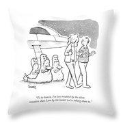 Less Troubled By The Alien Invaders Than Throw Pillow