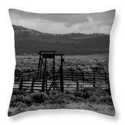 Let Em Loose Black And White  Throw Pillow