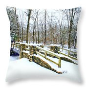 Let It Snow Let It Snow Throw Pillow