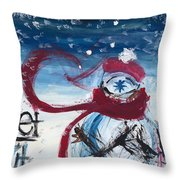 Let It Snow Version One Throw Pillow