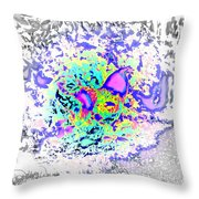 So Let This Stupid Fight Begin, Says The Fantasy Rooster  Throw Pillow