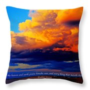 Let The Heavens Throw Pillow