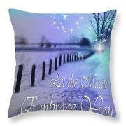 Let The Magic Embrace You Throw Pillow