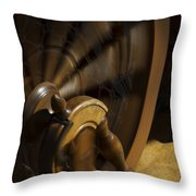 Let The Spinning Wheel Spin Throw Pillow