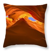 Let The Sunshine In The Canyons Throw Pillow