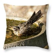 Let The Water Fly Throw Pillow