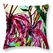 Let There Be Spiders Throw Pillow