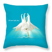 Let Your Light Shine Throw Pillow by Gill Billington