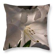 Shining Through The Darkness - Flower Art Throw Pillow