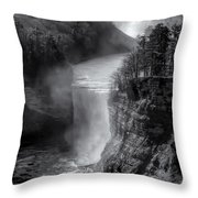 Letchworth In Winter Throw Pillow