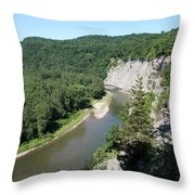 Letchworth State Park Genesee River I Throw Pillow